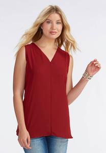 Sheer Trim High-Low Tank-Plus