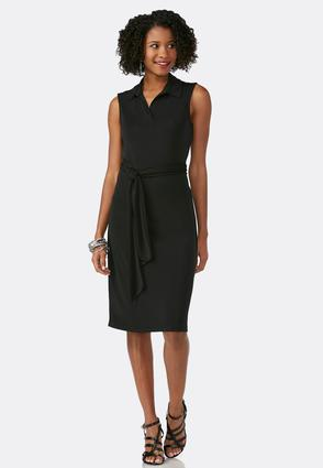 Belted Polo Shirt Dress