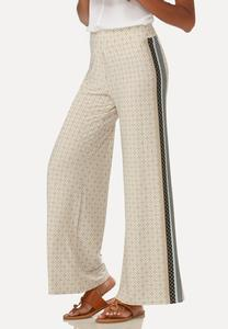 Bordered Geometric Palazzo Pants
