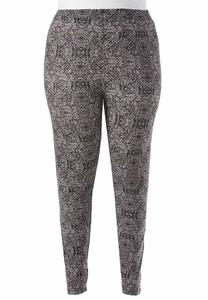 Baroque Print Leggings- Plus