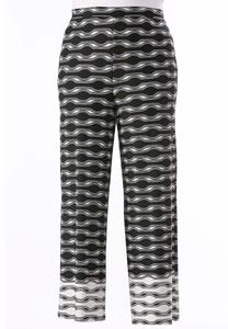 Bordered Chain Palazzo Pants- Plus