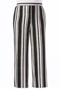 Painter Striped Palazzo Pants-Plus