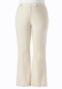 Classic Fit Essential Linen Trousers-Plus
