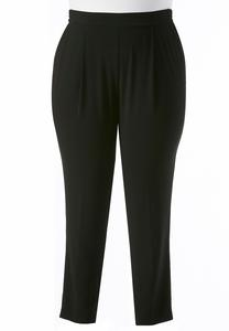 Relaxed Slim Leg Ankle Pants-Plus