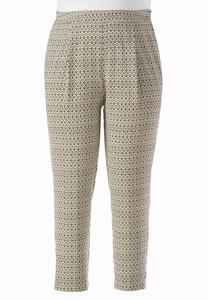 Cuban Ikat Relaxed Ankle Pants-Plus