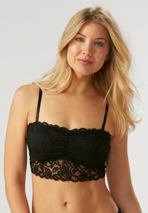 Ruched Bust Lace Bralette