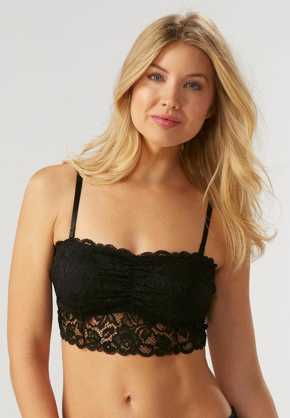 Ruched Bust Lace Bralette-Plus Bras | Cato Fashions