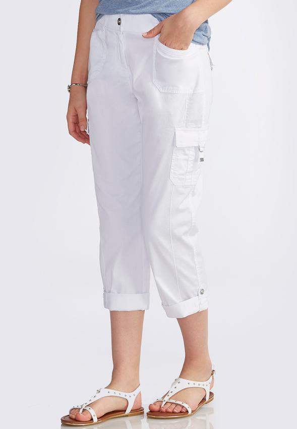 Cuffed Crop Cargo Pants Crops | Cato Fashions