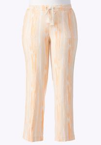 Ombre Wash Drawstring Linen Pants-Plus