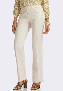Classic Fit Essential Linen Trousers-Petite