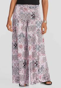 Scroll Patchwork Extreme Wide Palazzo Pants