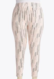 Graphic Dash Crop Leggings-Plus