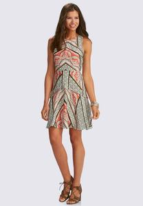 Fiesta Paisley Tiered Fit and Flare Dress