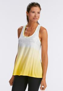 Ombre Twist Racerback Athleisure Tank