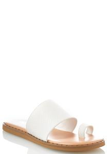 Wide Band Toe Loop Sandals