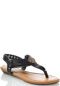 Medallion Stretch Band Sandals
