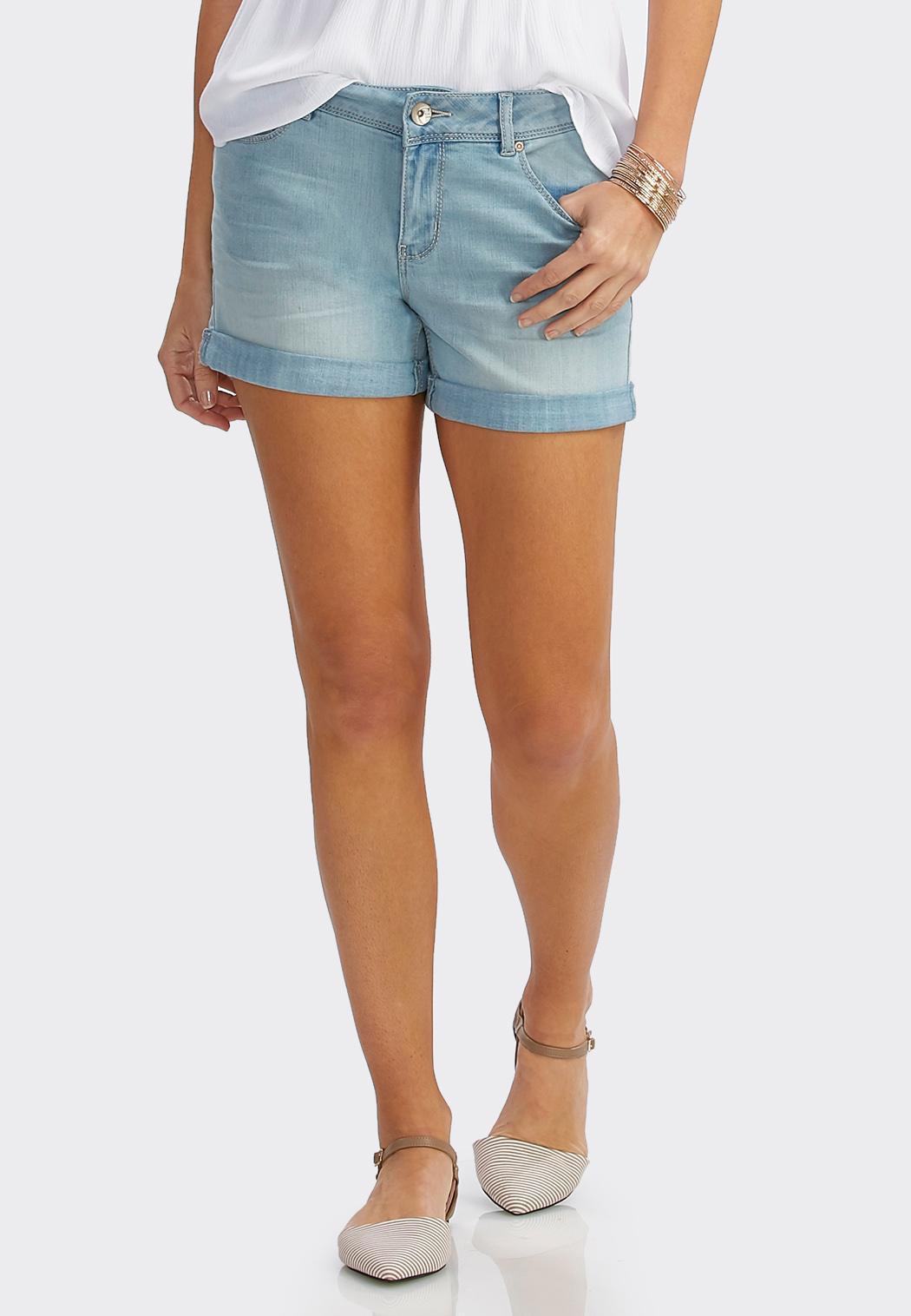 Cuffed Jean Shorts Shorts & Crops Cato Fashions