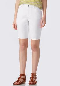 Optic White Bermuda Shorts