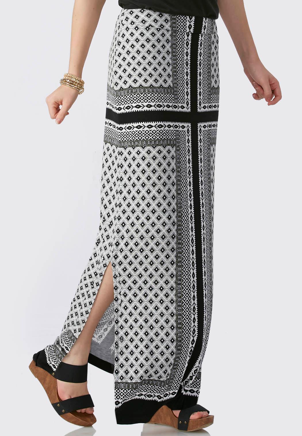 borderline scarf maxi skirt maxi cato fashions