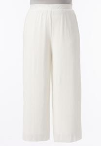 Pleated Glitter Palazzo Pants-Plus