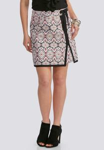 Retro Tile Wrap Skirt