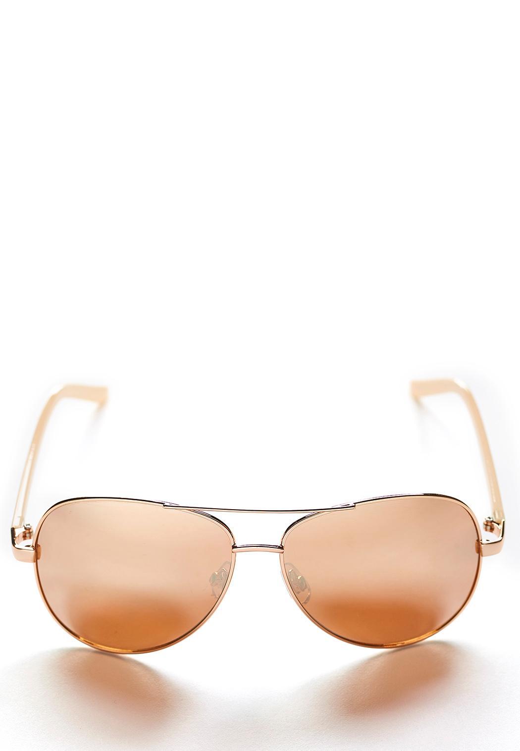 Rose Tinted Aviator Sunglasses