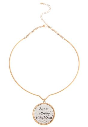 Inspirational Wire Choker Necklace | Tuggl