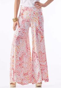 Abstract Extreme Wide Palazzo Pants