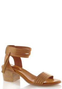 Multi Band Block Heeled Sandals