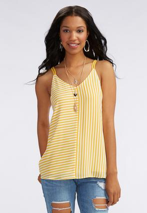 Banded Back Directional Striped Tank