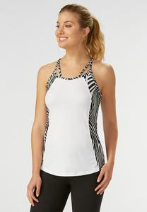 Abstract Palm Performance Tank- Plus