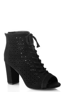 Laser Cut Lace Up Shooties
