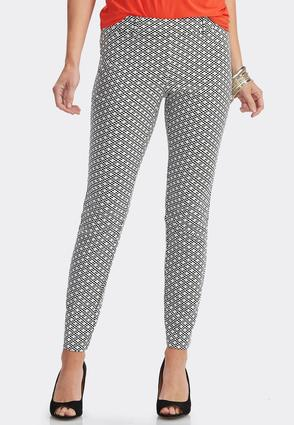 Checkered Slim Leg Ankle Pants