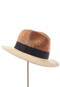 Two-Tone Wrap Band Panama Hat
