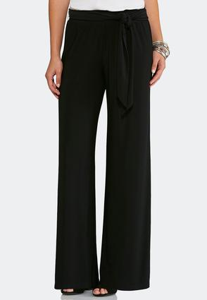 Belted Palazzo Pants-Petite | Tuggl