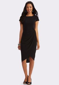 Knot Side Sheath Dress-Plus