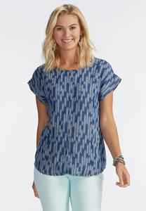 Arrowhead Chambray Popover Top