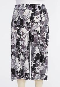 Shadow Palm Extreme Crop Pants-Plus