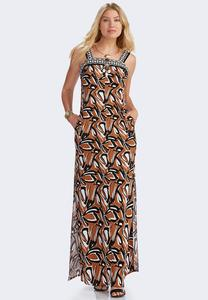 Tribal Side Pocket Maxi Dress