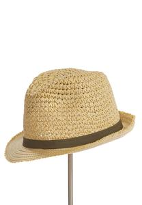 Frayed Brim Fedora Hat