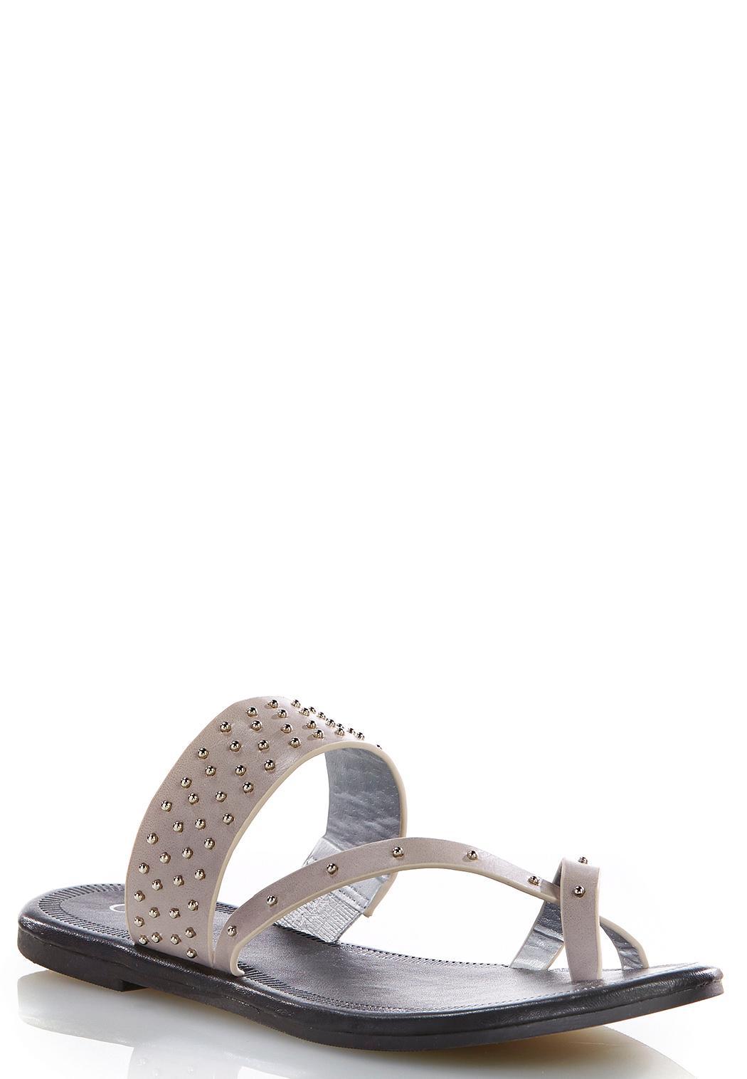 beaded toe loop sandals flats cato fashions