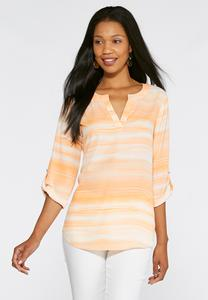 Ombre Wash Popover Top-Plus