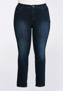 Classic Skinny Ankle Jeans- Plus