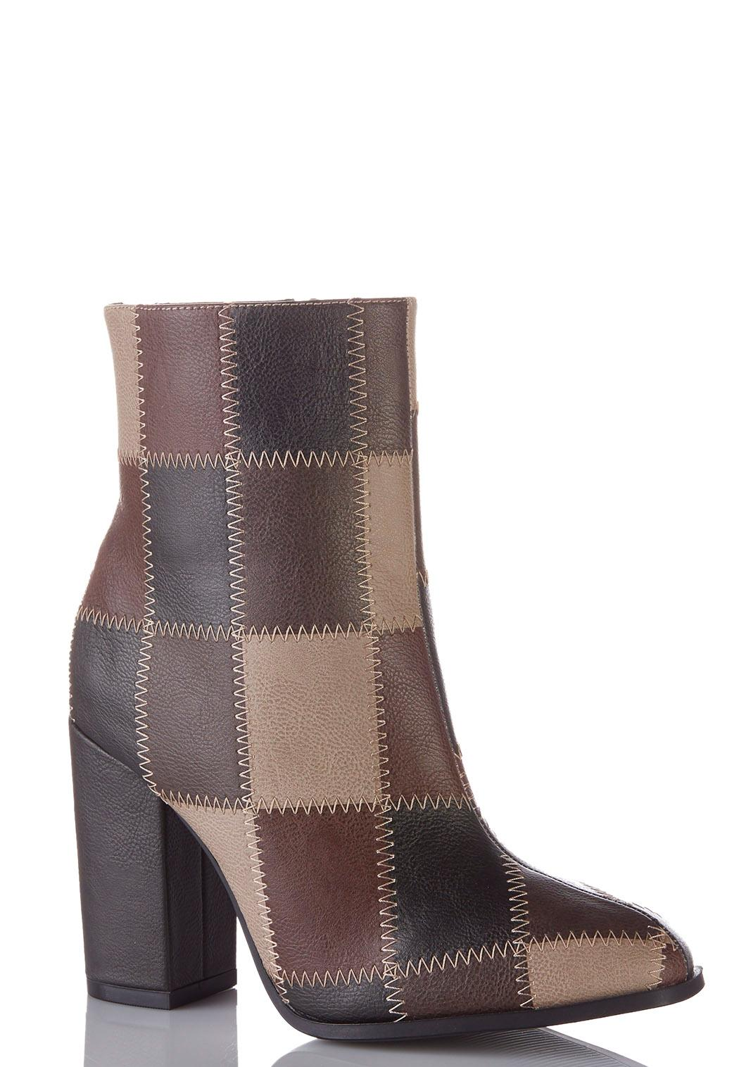 Patchwork Ankle Boots Ankle Amp Shooties Cato Fashions