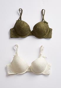 Floral Lace Bra Set-Plus