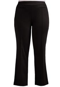 Pintuck Ponte Straight Leg Pants-Plus EXT