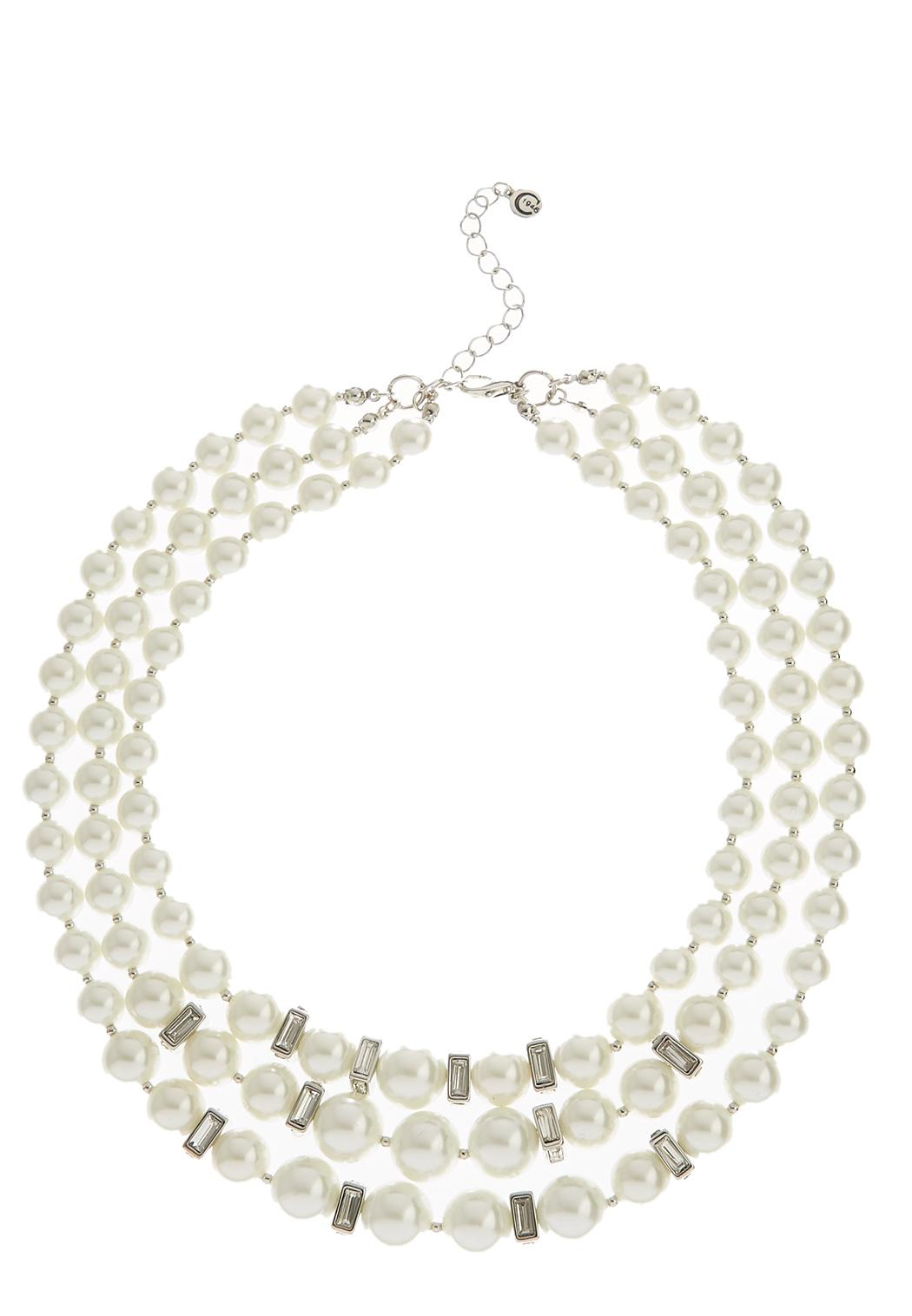 layered pearl necklace pearl cato fashions