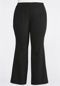 Zip Pocket Bootcut Ponte Pants-Plus