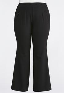 Zip Pocket Bootcut Ponte Pants-Plus Petite