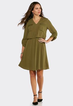 plus size v-neck blouson dress plus sizes cato fashions